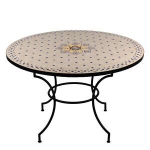 Gartentisch rund mosaik  Orientalischer MOSAIKTISCH ø120 rund Tisch Mosaik Esstisch MAROKKO ...