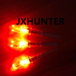 3PK Archery hunting automatic X5.3 lighted arrow nocks for ID 5.3mm arrows red