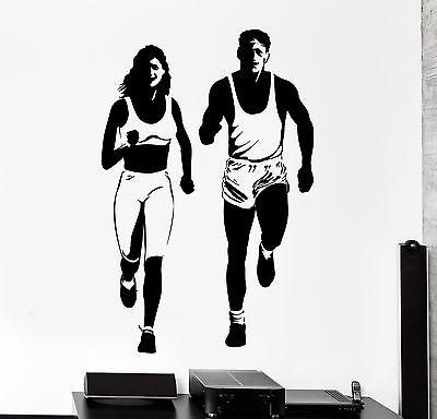 "Runner Girl 5.5/"" Car Vinyl Decal Sticker woman track running jog marathon *C3*"