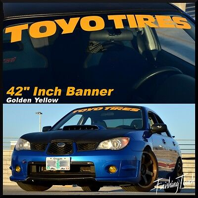 TOYO TIRES Banner vinyl windshield decal sticker graphic proxies race drift JDM