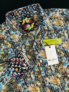 Robert-Graham-Marne-Abstract-Long-Sleeve-Sport-Shirt-Medium-198