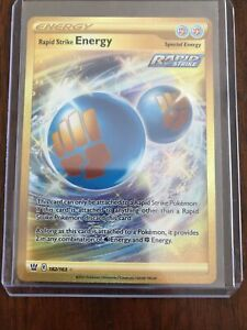 Rapid Strike Energy Special Gold Secret Rare Pokemon Card NM/M Battle Styles