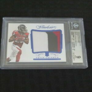 2015-Panini-Flawless-Rookie-Patches-Blue-Tevin-Coleman-Falcons-15-20-BGS9