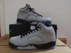 date de sortie 2da12 41db0 Détails sur Nike Fille Air Jordan 5 Rétro GS Baskets Montantes 440892 008  Chaussures