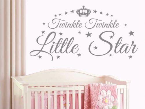 Diy amovible twinkle twinkle little star citer mur autocollant mural enfants T14