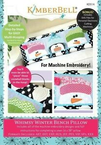 Kimberbell-Whimsy-Winter-Bench-Pillow-Embroidery-CD-KD514