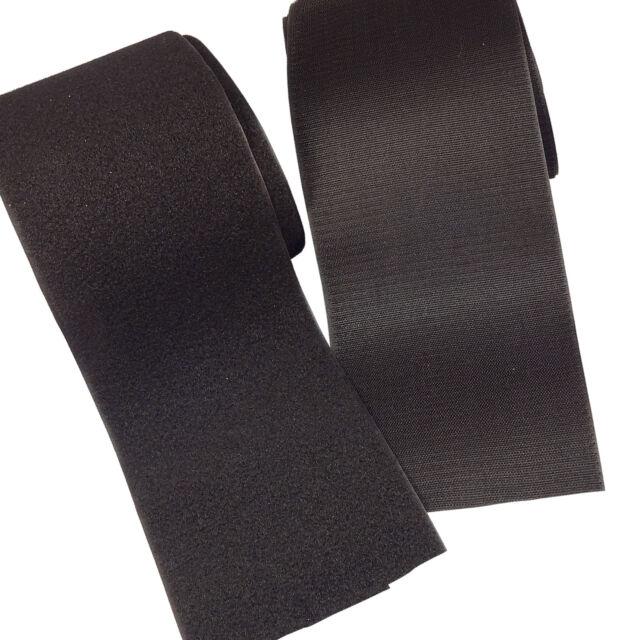 "VELCRO® BRAND Hook and Loop Fastener 1/"" IRON ON Type Black 5 Feet"