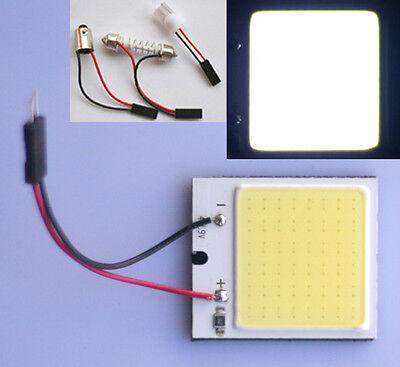 5x Auto COB Chip 48 LED Panel Licht T10 Leselicht Festoon Innenlicht Lampe 12V