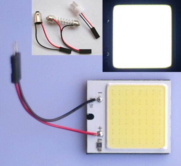 2x COB Chip 48-LED Panel Licht T10 Leselicht Festoon Weiß Innenlicht Lampe 12V