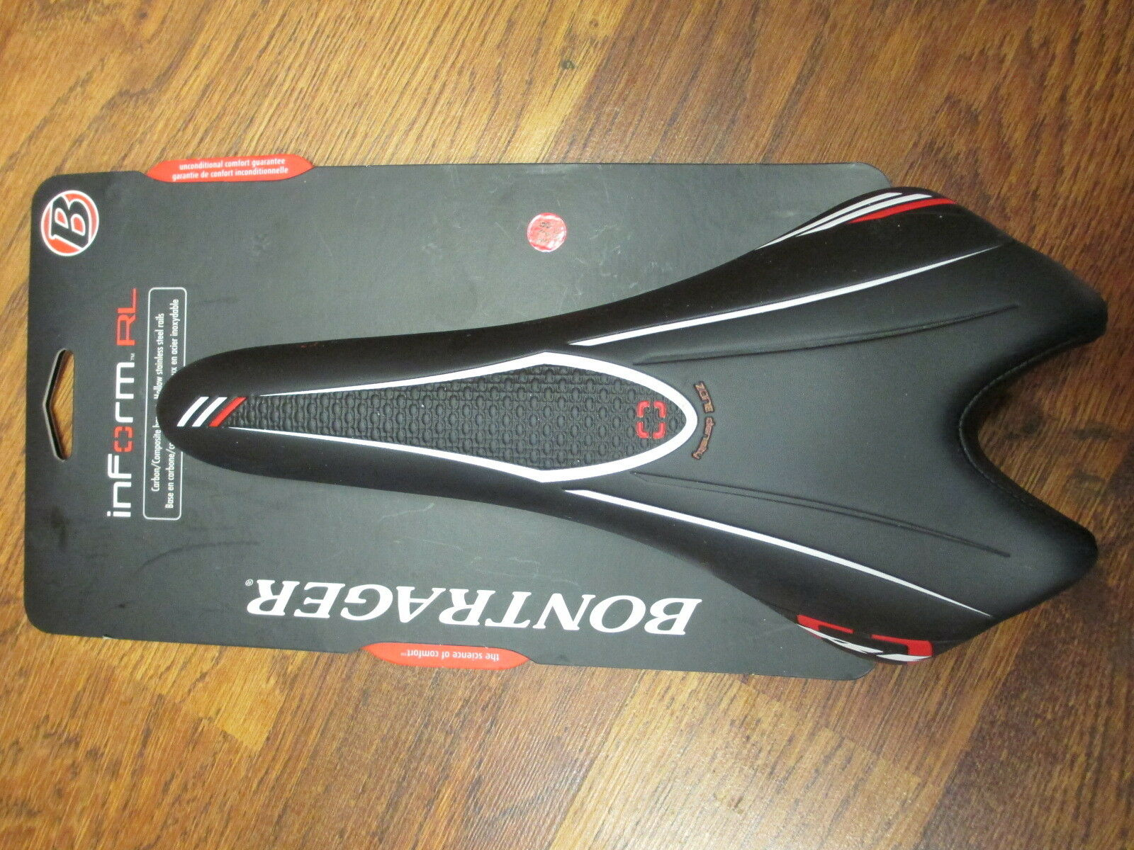 BONTRAGER INFORM RL 128 HOLLOW STAINLESS STEEL RAILED RACING SADDLE