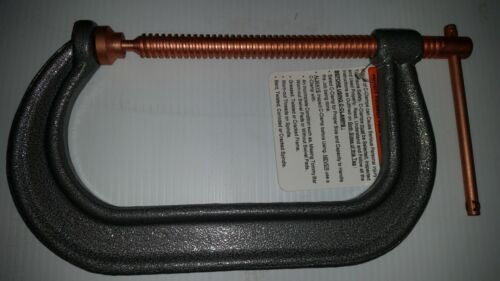 "C-Clamp 8/"" opening Heavy Duty Drop Forged Steel Powder Coated C Clamp 5/"" throat"