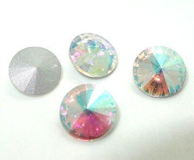 5PCS XILION #1122 ELEMENTS Crystal Rivoli Beads 18mm U PICK Colours