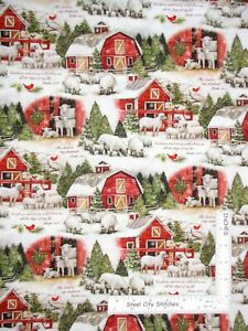 Christmas-Lord-Is-Shepherd-Scenic-Susan-Winget-Cotton-Fabric-CP68854-By-The-Yard