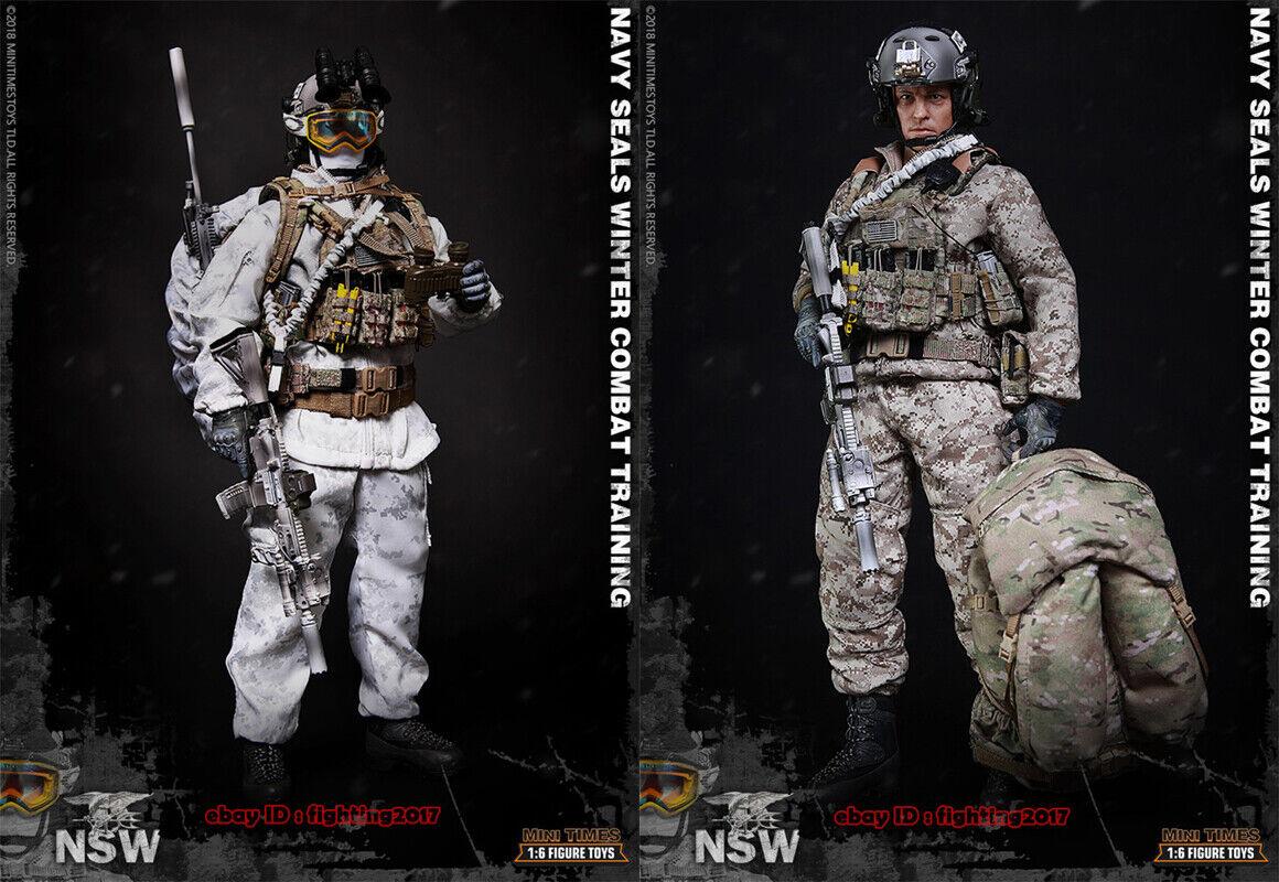 Minitimes Juguetes M011 NSW Navy Seals entrenamiento invierno 1 6 Macho Figura Modelo en existencias