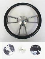 1970-1977 Ford F Series Truck Steering Wheel Carbon Fiber & Billet 14 Ford Cap