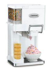 Cuisinart ICE-45 Small Soft Serve Ice Cream Yogurt Sorbet Maker 1.5 Quart White