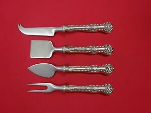 Constructive Charles Ii By Dominick & Haff Sterling Silver Cheese Serving Set 4pc Hhws Custom Strong Packing Furniture