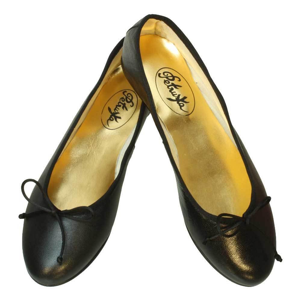 Los zapatos más populares para hombres y mujeres Descuento por tiempo limitado Ballerina Schuhe schwarz aus Nappaleder Glattleder Gr.37 - 41 Ballerinas Lindi