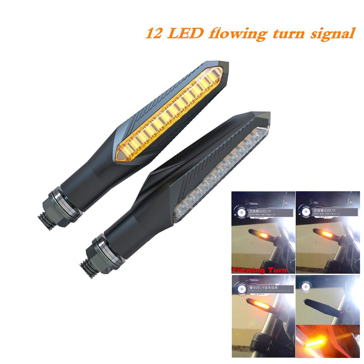 12 LED flowing turn signal motorbike warning light flow indicator spirit beast