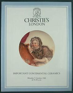 CATALOGUE VENTE ENCHERES - CHRISTIE'S - CONTINENTAL CERAMICS - FAIENCE PORCELAIN mWNDASB3-08013520-433487950