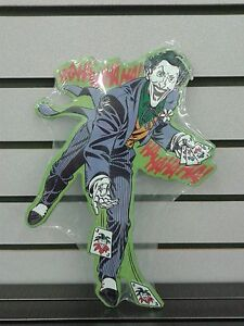THE JOKER FROM BATMAN AND ROBBIN EMBOSSED METAL SIGN 13 INCHES HIGH DISNEY FORD