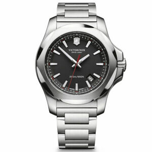 Victorinox-Swiss-Army-Men-039-s-Watch-I-N-O-X-Black-Dial-241723-1-Authorized-Dealer