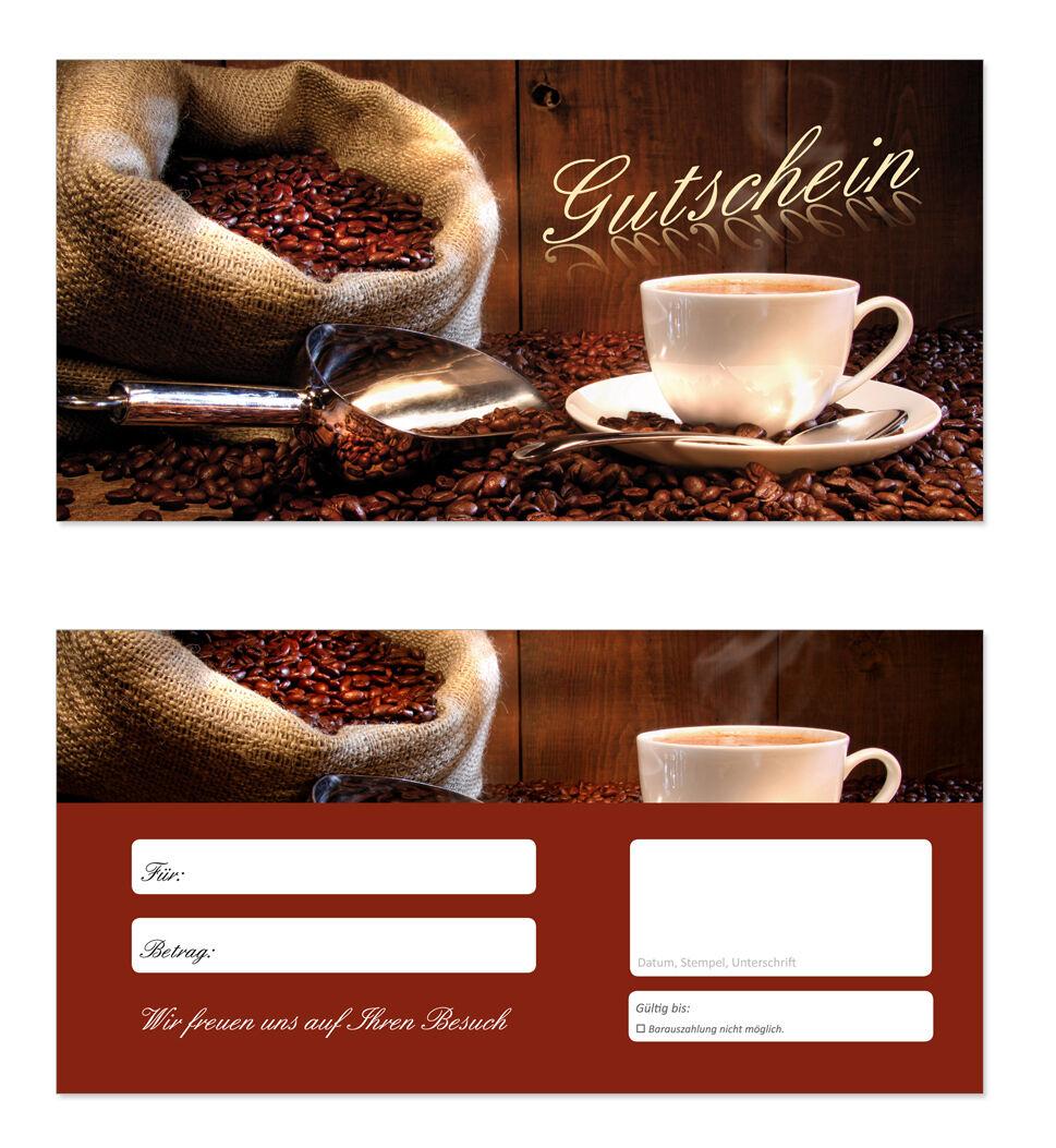 200 x Geschenkgutscheine (Kaffee-606) TOP Gutscheine für Gastronomie Restaurant Restaurant Restaurant 0601ab