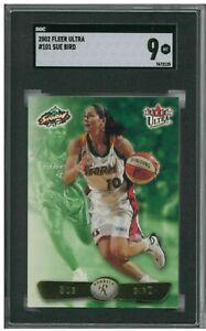 2002 Fleer Ultra #101 Sue Bird WNBA RC SGC 9 Mint BZ747