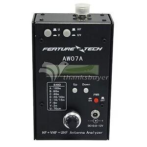 AW07A HF/VHF/UHF 160M Impedance SWR Antenna Analyzer F Ham Radio Hobbists DIY
