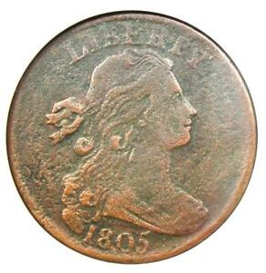 1805-Draped-Bust-Large-Cent-1C-S-267-ANACS-VF30-Details-Rare-Early-Penny