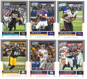 image is loading 2017 panini score football scorecard parallels choose from