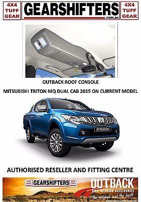 OUTBACK ACCESSORIES ROOF CONSOLES, MITSUBISHI TRITON MQ DUAL CAB CURRENT MODEL