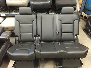 2007 2016 Tahoe Yukon Or Escalade 2nd Row Black Bench Seat