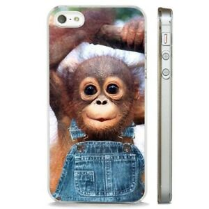 Details about Cute Monkey Organutang Baby CLEAR PHONE CASE COVER fits iPHONE 5 6 7 8 X