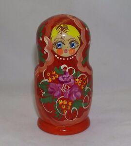 Matryoshka Matreshka Russian Nesting Doll Wooden Babushka Snowmen Team Set 7 Pс