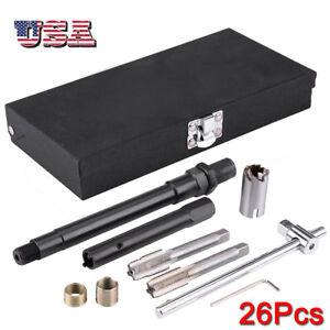 Details about 26pcs Spark Plug Thread Repair Tool Set Kit M14 x 1 25 Whit  Metal Case US Stock
