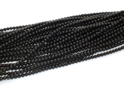 ONYX 4mm PERLEN  A-GRADE schwarz glänzend rund Schmuckperlen Edelstein 1 Strang