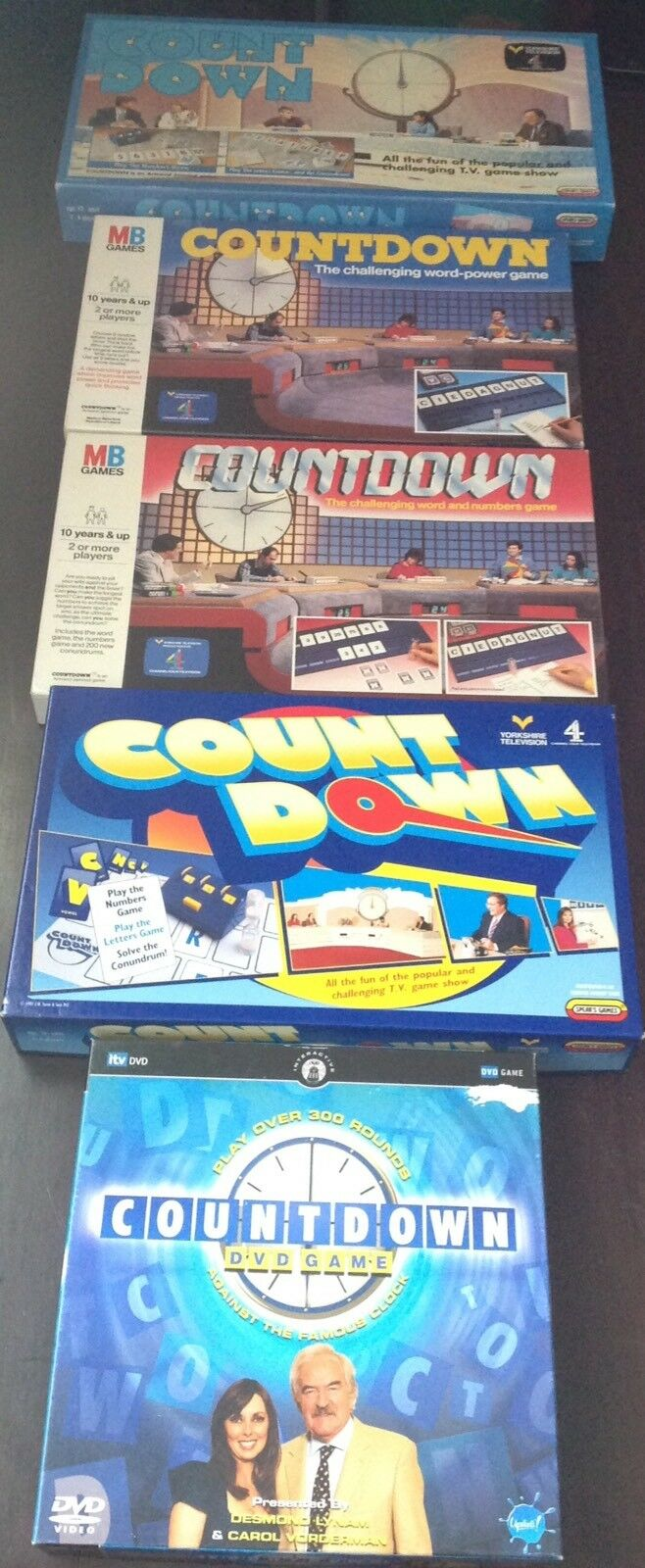 Countdown through the eras  Spears Games   MB Games board game   bundle job lot