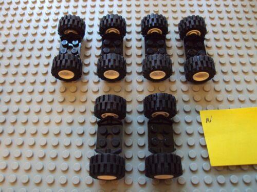Lego Minifig ~ Lot Of Wheels With Tires /& Axles Sets Car Truck Rim//Hub #njh6yh