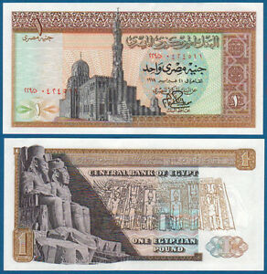 ÄGYPTEN / EGYPT 1 Pound 1978  UNC  P.44