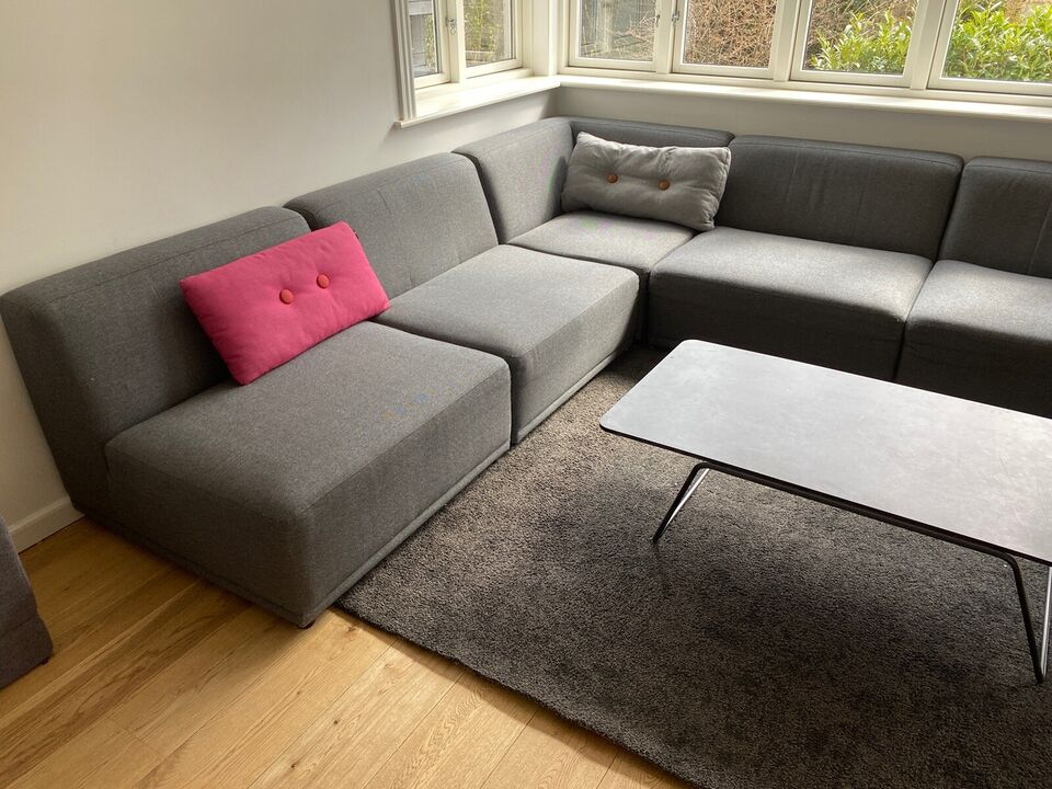 Sofa, polyester, 6 pers.