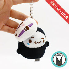 "Japan Studio Ghibli No Face Spirited away Seal 4"" Phone Charm Mascot Plush Cute"