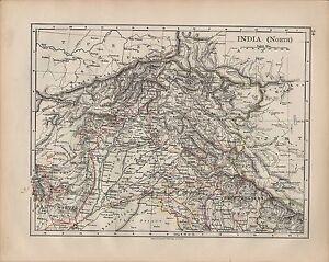 1900 Victorian Map India North Bengal Kashmir Baluchistan Ebay