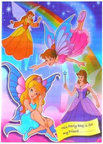 100 Fairy//Princess Empty Party Bags Toy Loot Wedding//Kids Plastic Clear