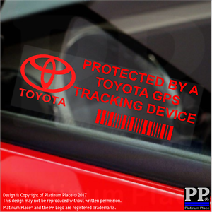 Image Is Loading 5 X Red Toyota Gps Tracking Device Security
