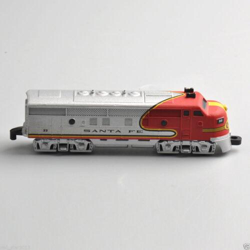 "SANTA FE 4/"" Classic Series Long Train 1//160 Kids Diecast Locomotive Model Toy"