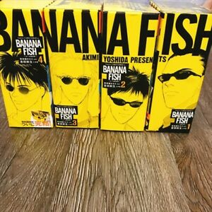 BANANA-FISH-Reprinted-Edition-1-4-Full-Set-JAPANESE-VERSION-Akimi-Yoshida-Manga