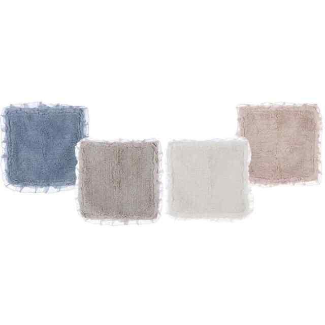 Badteppich Badläufer Teppich Volant beige Li Bildmitte Blanc MARICLO