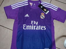 Adidas neu Trikot Real Madrid Torwart Größe S Lila Wunschflock möglich