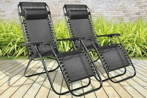 SET-OF-2-RECLINING-SUN-LOUNGER-OUTDOOR-GARDEN-PATIO-GRAVITY-CHAIR-RECLINER-BED